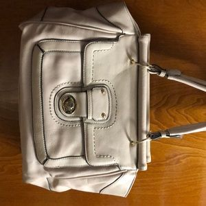 ♥️ Shoe Dazzle grayish cream shoulder purse. Used